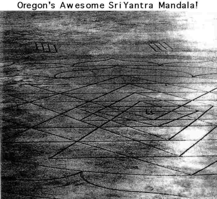oregon's Awesome sri yantra Mandala